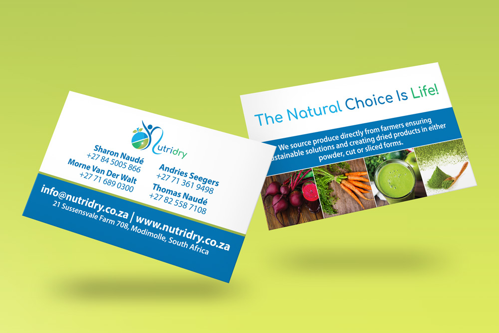 Nutridry Business Cards